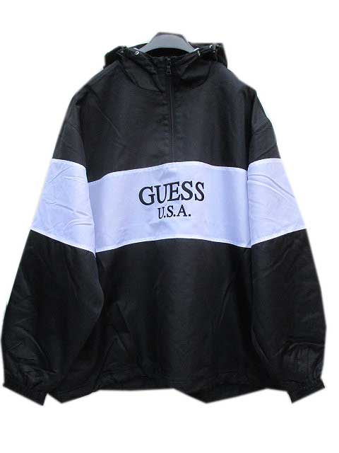 GUESS GREEN LABELゲスグリーンレーベル2TONE ANORAK white/black