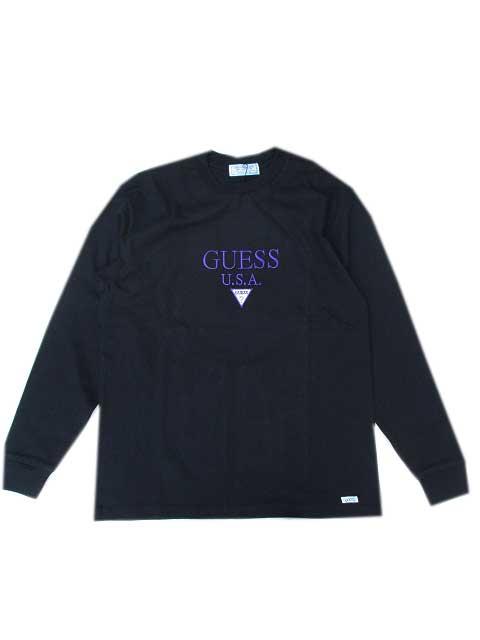 GUESS GREEN LABELゲスグリーンレーベルGUESS USA ロングスリーブTシャツ black