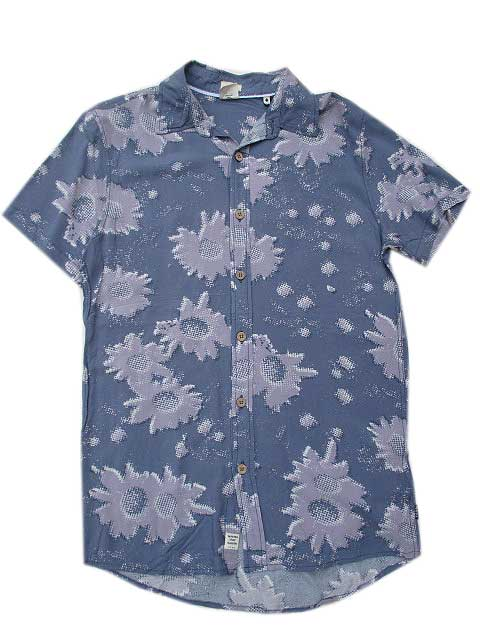 TCSSティーシーエスエスIMPRESSIONS SHIRT FOLKSTONE GREY アロハシャツ