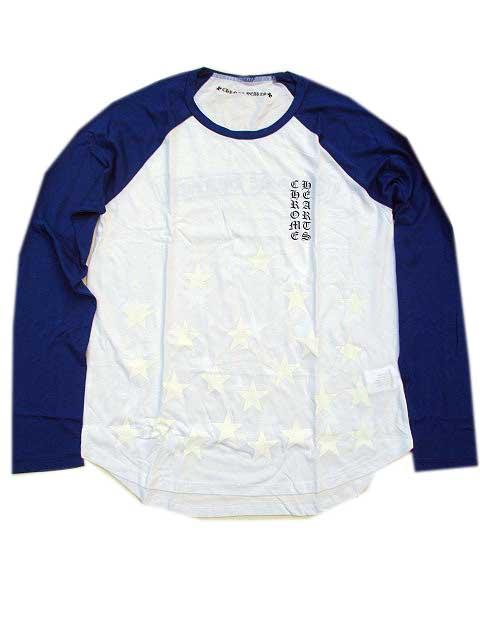 CHROME HEARTSクロムハーツベースボールロンT white/blue