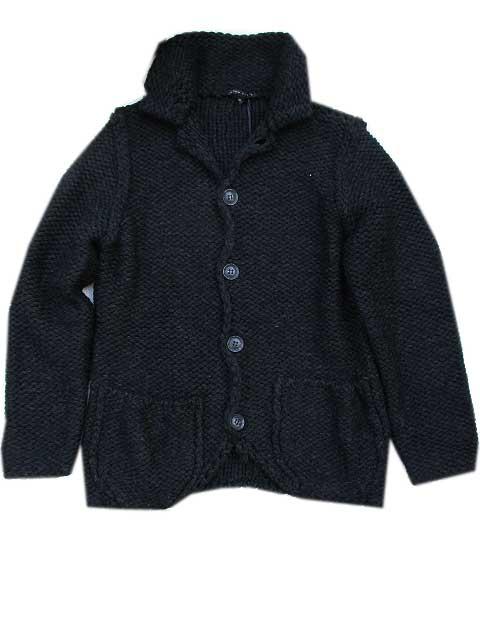 BRIAN DALES/ブライアンダレスイタリア製カーデ black