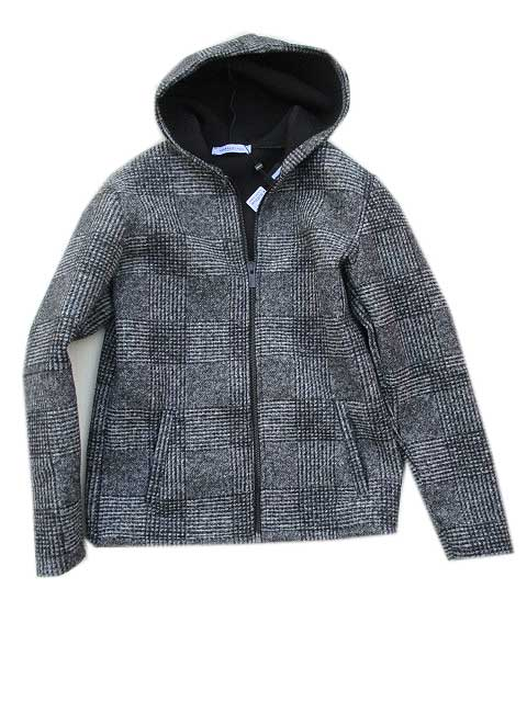HAMAKI-HOハマキホチェックボンディングジャケット black