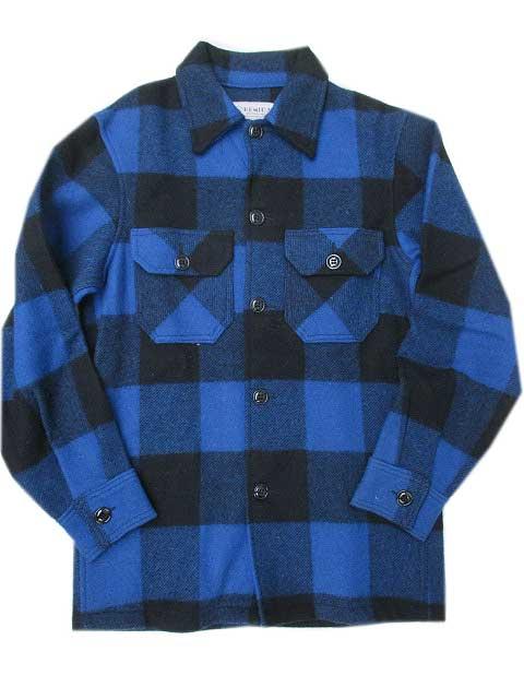 BEMIDJIベミジウールシャツ blue/black