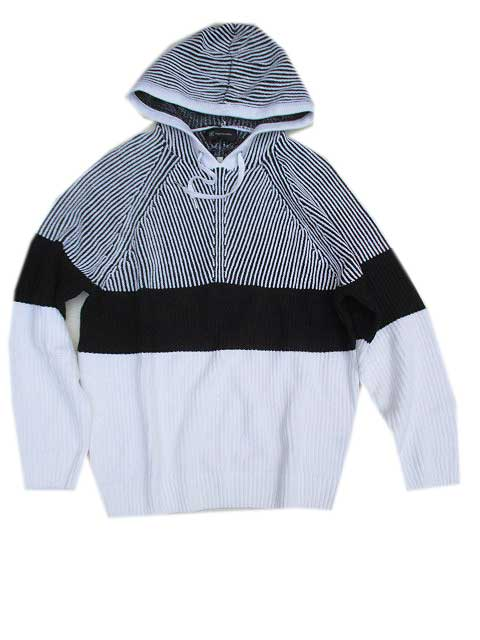 INC INTERNATIONALパーカーニット white/black