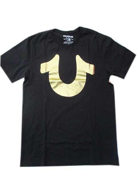 True ReligionトゥルーレリジョンFOIL HORSESHOE Tシャツ black