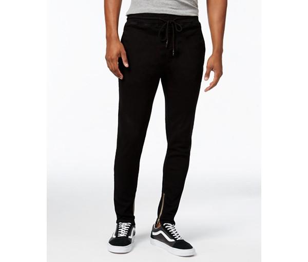 裾がジップで履きやすいパンツ JAYWALKER ジェイウォ-カーコットンストレッチ裾ジップパンツ 新作販売 直営店 black