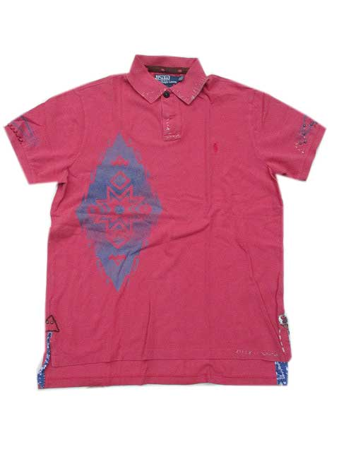 Polo Ralph Laurenポロシャツ ネイティブ柄red