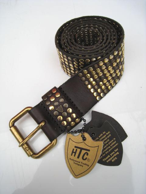 HTC ITALY /エイチティーシーイタリーベルト 10000STUDS BELT brown
