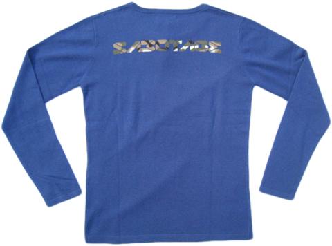 SABOTAGE /サボタージュ カシミアクルーロゴニット ブルー