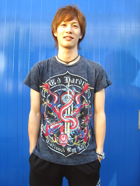 ED HARDY【SNAKE & SHOOTS】S/S PLATINUM CREW TEE