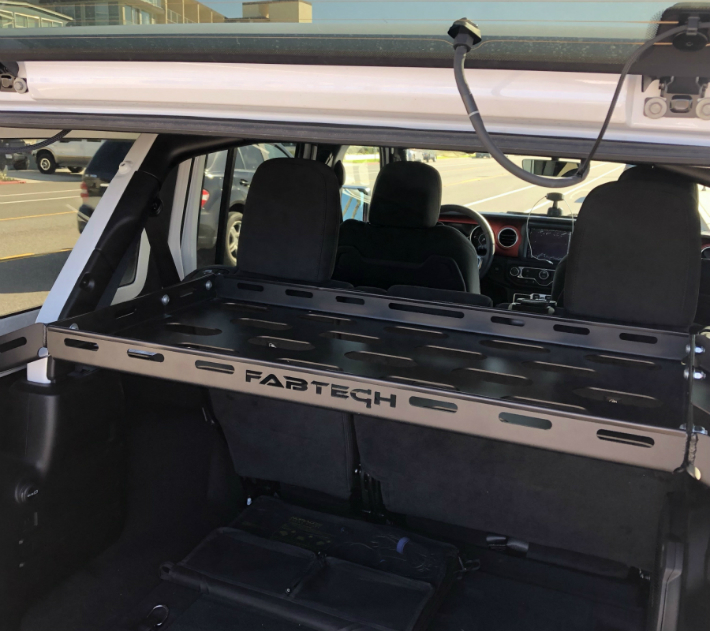 アメ車 ジープ 海外直送品JK 新型ラングラーカーゴラック ラック Jeep Fabtechファブテック 送料無料 カーゴラック JK用 往復送料無料 バンジーネット無し 4年保証