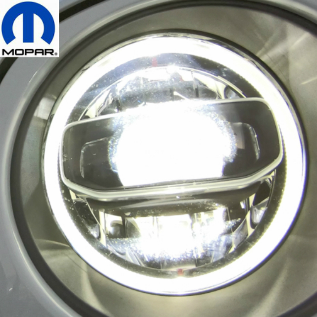 MOPAR 純正 ジープ JEEP JL 新型ラングラー用 LEDヘッドライト 左右 +純正イカリング駆動用ハーネスキット