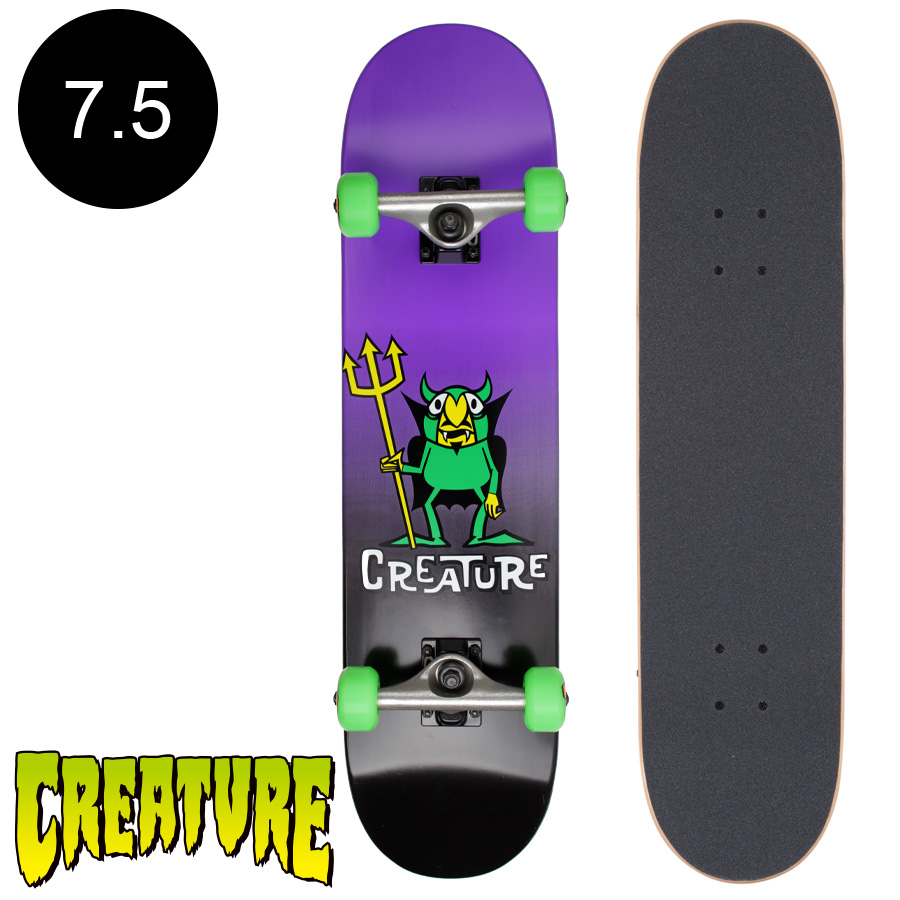 【CREATURE クリーチャー】7.5in x 30.6in BEELZEBUB COMPLETEコンプリートデッキ(完成組立品)※12歳以上推奨 スケートボード スケボー ストリート sk8 skateboard 【1707】