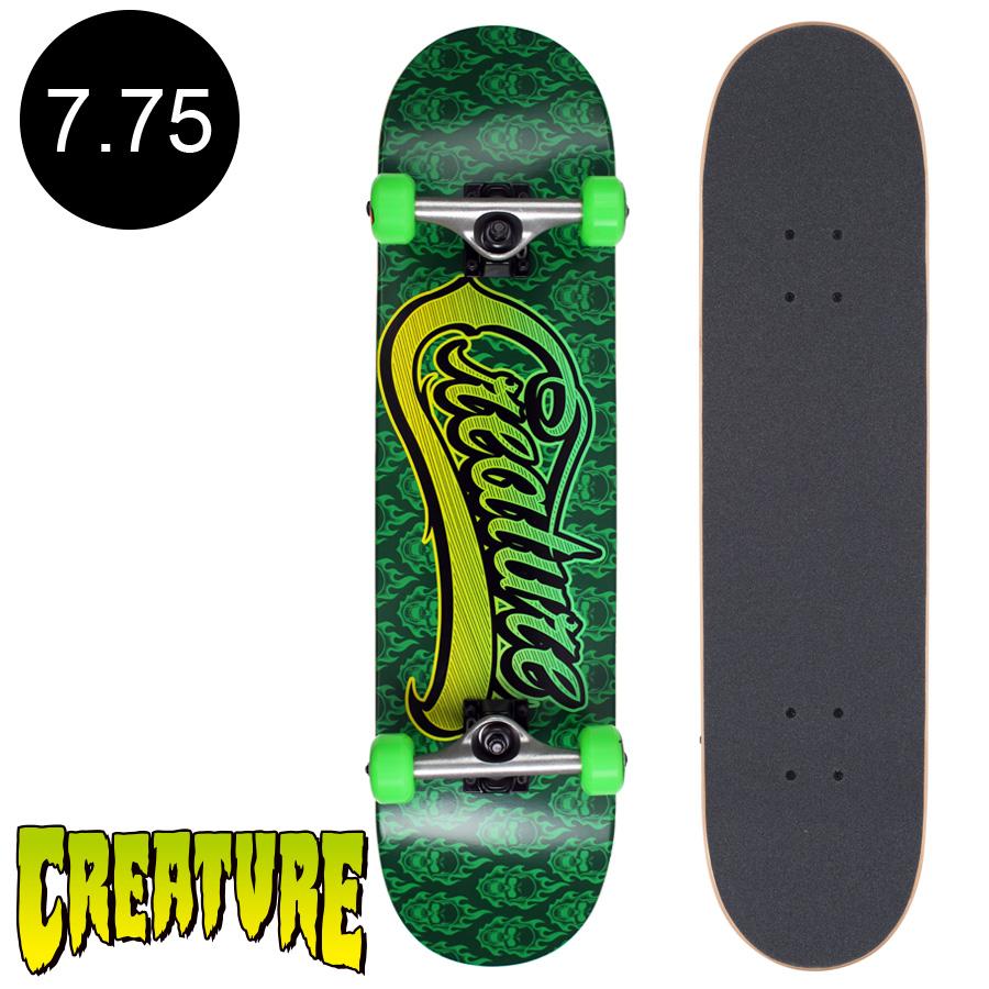 【CREATURE クリーチャー】7.75in x 31.4in BONEHEAD SCRIPT SM REGULAR COMPLETEコンプリートデッキ(完成組立品)スケートボード スケボー 初心者 ストリート sk8 skateboard 【1805】