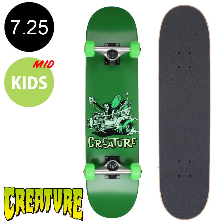 【CREATURE クリーチャー】7.25in x 29.9in MONSTER MOBILE MID COMPLETEコンプリートデッキ(完成組立品)※9~12歳前後推奨 スケートボード エントリーモデル(初心者 子供用におすすめ)スケボー sk8 skateboard【1710】
