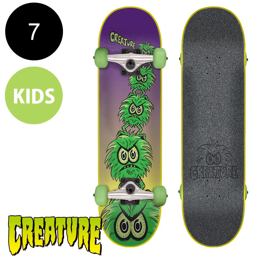 【CREATURE クリーチャー】7in x 29.2in CREEPS MINI COMPLETEコンプリートデッキ(完成組立品)※6~8歳前後推奨 スケートボード エントリーモデル(初心者 子供用におすすめ)スケボー sk8 skateboard【1802】