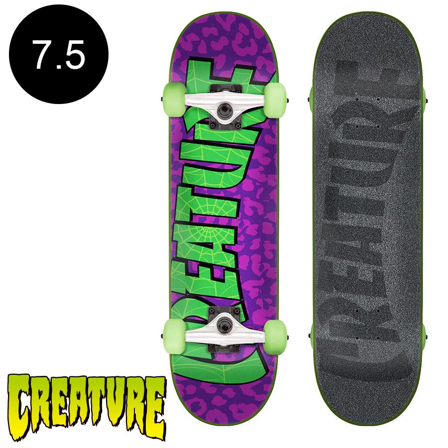 【CREATURE クリーチャー】7.5in x 30.6in SANCTIONED SM COMPLETEコンプリートデッキ(完成組立品)※12歳以上推奨 スケートボード スケボー ストリート sk8 skateboard 【1802】