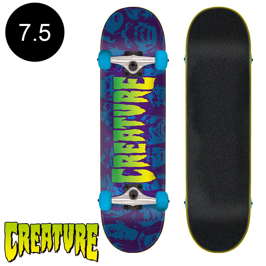 【CREATURE クリーチャー】7.5in x 30.6in FACES SM COMPLETEコンプリートデッキ(完成組立品)※12歳以上推奨 スケートボード スケボー ストリート sk8 skateboard 【1805】
