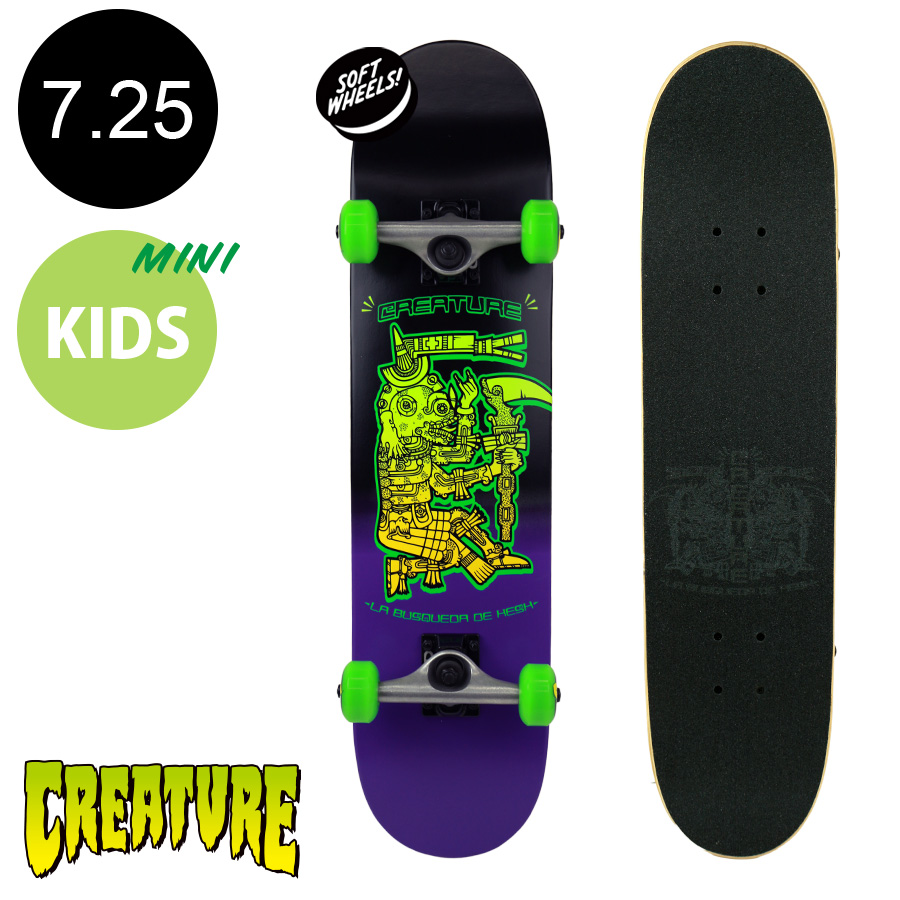 【CREATURE クリーチャー】7.25in x 29.9in BUSQUEDA DE HESH COMPLETEコンプリート(完成組立品) ※6~8歳前後推奨 スケートボード エントリーモデル(初心者 子供用におすすめ)スケボー sk8 skateboard【2001】