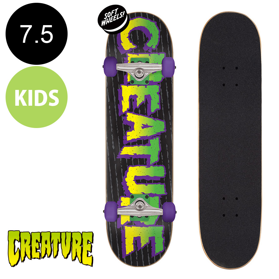 【CREATURE クリーチャー】7.5in x 28.25in TOMB SK8 COMPLETEコンプリート(完成組立品)※7~10歳前後推奨 スケートボード スケボー 初心者 はじめて オススメ ストリート sk8 skateboard 【2007】