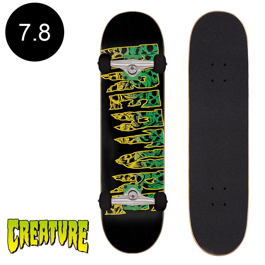 【CREATURE クリーチャー】7.8in x 31in CATACOMB SK8 COMPLETEコンプリートセット (完成組立品)スケートボード スケボー 初心者 はじめて オススメストリート 競技 プロ sk8 skateboard 【2007】