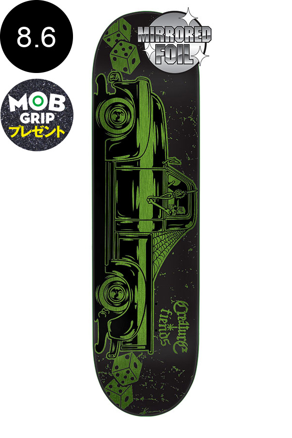 【CREATURE クリーチャー】8.6in x 32.11in CAR CLUB METALLIC MD TEAM DECKデッキ カークラブ スケートボード スケボー ストリート sk8 skateboardデッキテーププレゼント!【1802】