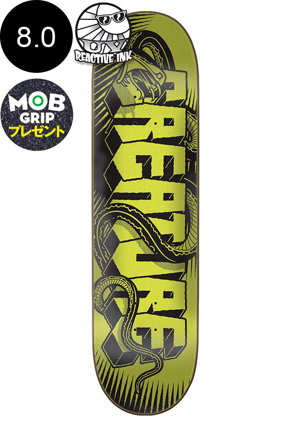 【CREATURE クリーチャー】8.0in x 31.6in GIANT SERPENTS UV SM TEAM DECKデッキ マイク・ジャイアント スケートボード スケボー ストリート sk8 skateboardデッキテーププレゼント!【1802】