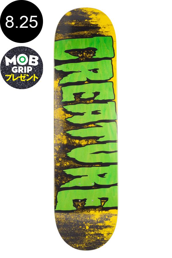 【CREATURE クリーチャー】8.25in x 32.04in LOGO WASH MD TEAM DECKデッキ スケートボード スケボー ストリート sk8 skateboardデッキテーププレゼント!【1907】