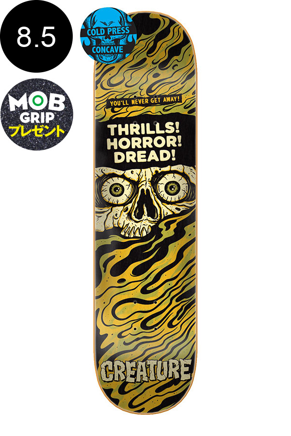 【CREATURE クリーチャー】8.5in x 32.3in HORROR FEATURE LG TEAM DECKデッキ スケートボード スケボー ストリート sk8 skateboardデッキテーププレゼント!【1910】