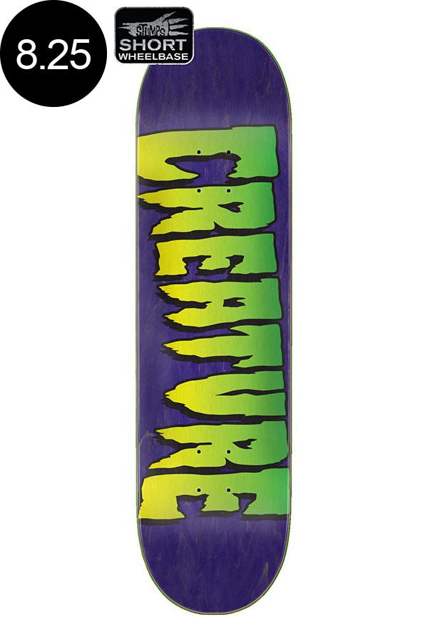 【CREATURE クリーチャー】8.25in x 31.80in LOGO STUMPS TEAM DECKデッキ スケートボード スケボー ストリート sk8 skateboardデッキテーププレゼント!【2007】