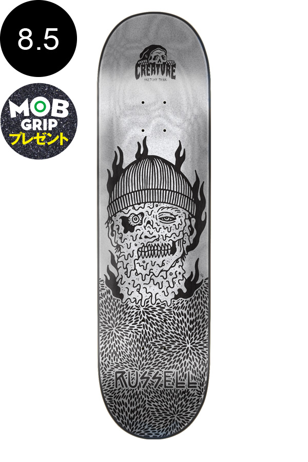 【CREATURE クリーチャー】8.5in x 32.25in RUSSELL MELTED PRO DECKデッキ クリス・ラッセル スケートボード スケボー ストリート sk8 skateboardデッキテーププレゼント!【1805】