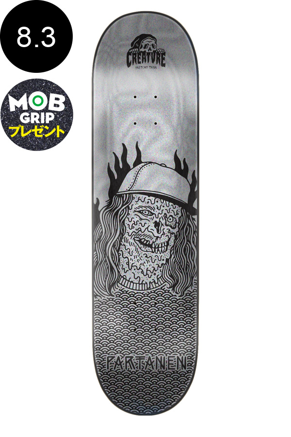 【CREATURE クリーチャー】8.3in x 32.2in PARTANEN MELTED PRO DECKデッキ アル・パータネン スケートボード スケボー ストリート sk8 skateboardデッキテーププレゼント!【1805】