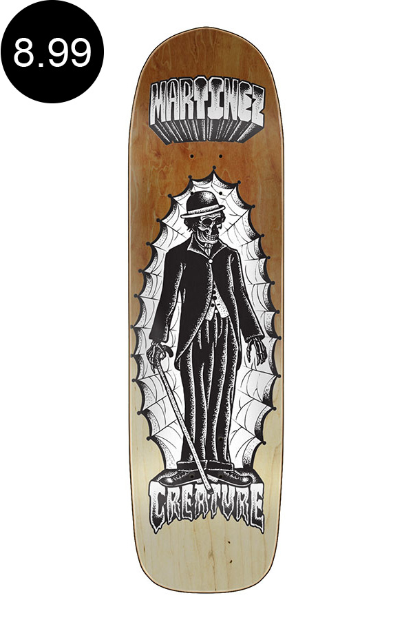 【CREATURE クリーチャー】8.99in x 32.64in MARTINEZ THE IMMIGRANT PRO DECKデッキ ミルトン・マルティネス MILTON MARTINEZ スケートボード スケボー ストリート sk8 skateboardデッキテーププレゼント!【2007】