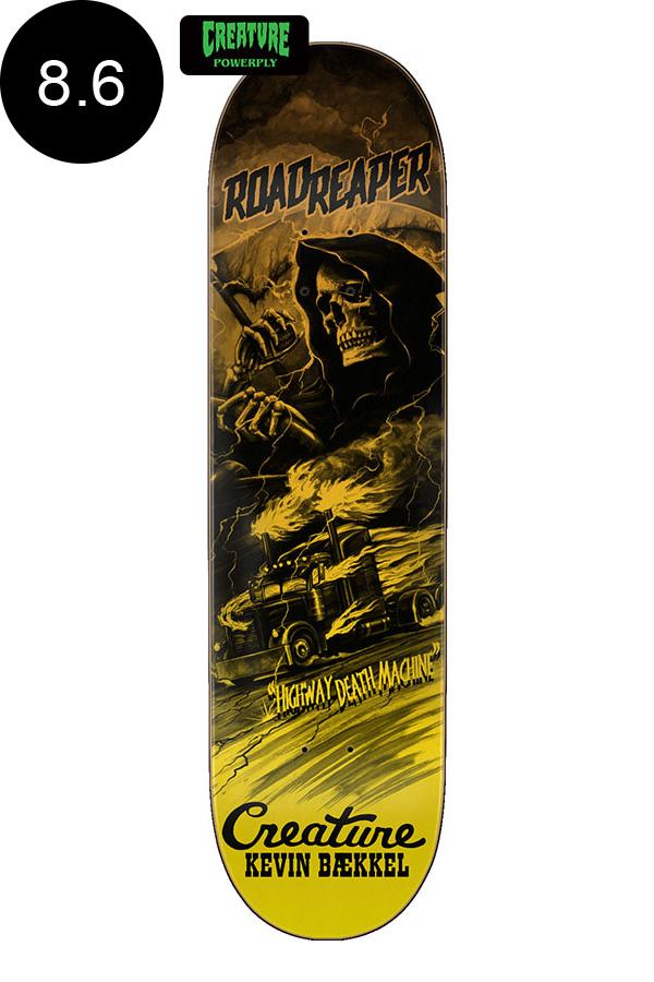 【CREATURE クリーチャー】8.6in x 32.11in BAEKKEL ROADSIDE TERROR POWERPLY PRO DECKデッキ ケビン・ベッケル パワープライ スケートボード スケボー ストリート sk8 skateboardデッキテーププレゼント!【2007】