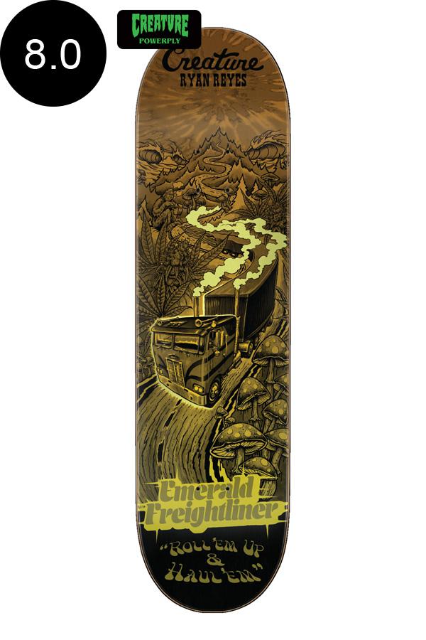 【CREATURE クリーチャー】8.0in x 31.8in REYES ROADSIDE TERROR POWERPLY PRO DECKデッキ ライアン・レイズ スケートボード パワープライ スケボー ストリート sk8 skateboardデッキテーププレゼント!【2007】