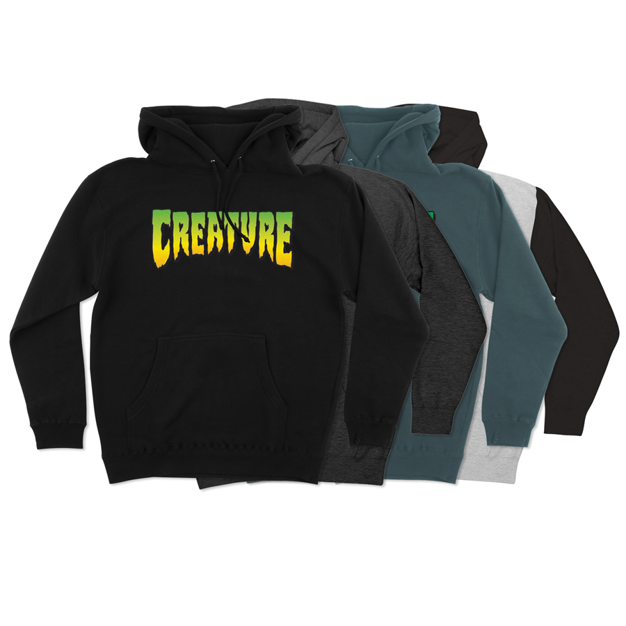 【CREATURE クリーチャー】CREATURE LOGO L/S PULLOVER HOODED MENSプルオーバーパーカー P/O フード ロゴ ストリート スケートボード スケボー sk8 skateboard【20SS】(CP)