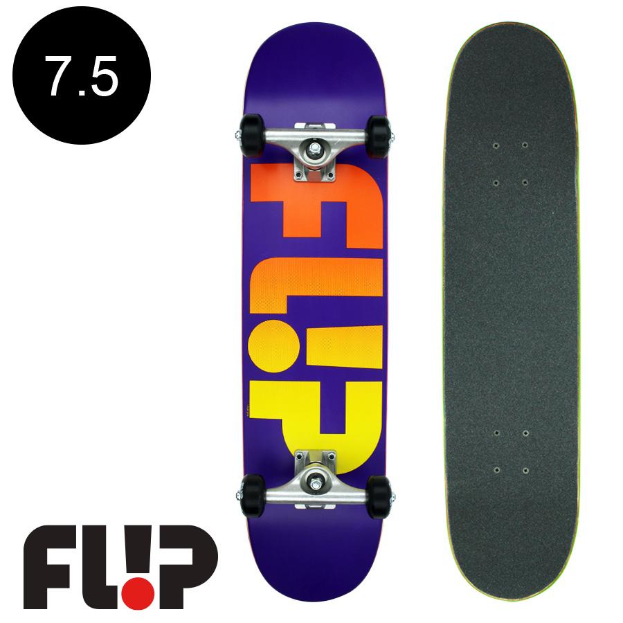 【FLIP フリップ】7.5in x 30.6in ODYSSEY FADED PURPLE REGULAR COMPLETEチームコンプリートデッキ(完成組立品)スケートボード エントリーモデル(初心者にもおすすめ)スケボー ストリート sk8 skateboard【1804】