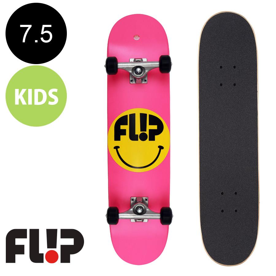 【FLIP フリップ】7.5in x 30.6in SMILEY PINK SK8 COMPLETE※7~10歳前後推奨 コンプリート(完成組立品) セット 子供 キッズ 初めて かわいい 初心者 オススメ スケートボード スケボー【2006】
