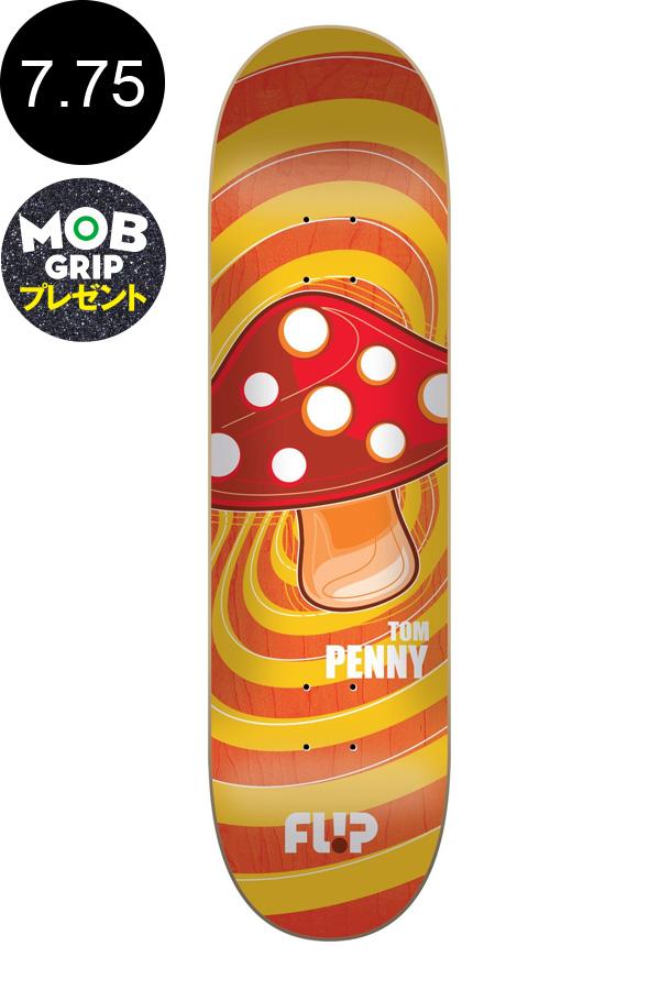 【FLIP フリップ】7.75in x 31.63in PENNY POPSHROOM ORANGE PRO DECKデッキ トム・ペニー スケートボード スケボー ストリート sk8 skateboardデッキテーププレゼント!【1804】