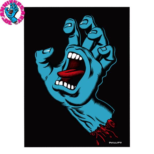 【SANTA CRUZ サンタクルーズ】19in x 25in SCREAMING HAND 30 YEAR ANNIVERSARY LIMITED EDITION PRINTポスター スクリーミングハンド 30周年 1000枚限定 ジム・フィリップス サイン入り スケートボード スケボー【30TH】