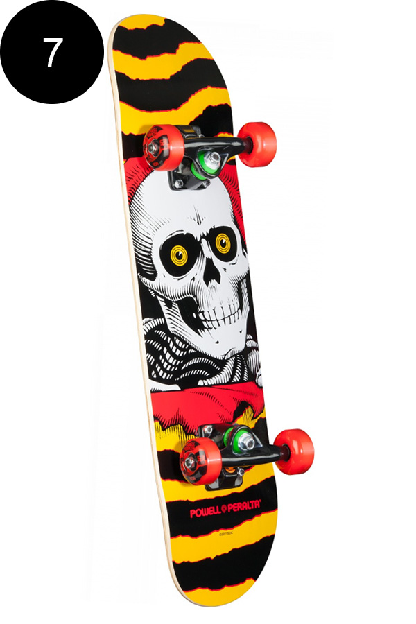 【POWELL PERALTA パウエル・ペラルタ】7in x 28in RIPPER ONE OFF COMPLETEコンプリートデッキ(完成組立品)※6~8歳前後推奨 スケートボード スケボー skateboard sk8【1710】