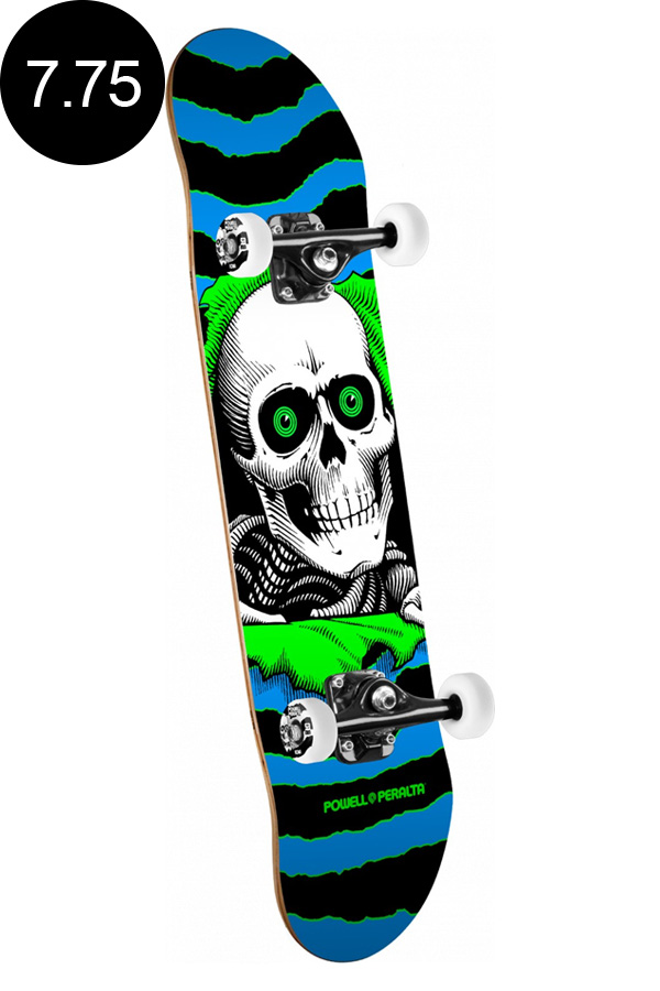 【POWELL PERALTA パウエル・ペラルタ】7.75in x 31.75in RIPPER ONE OFF COMPLETE BLUE/GREENコンプリートデッキ(完成組立品)スケートボード スケボー skateboard sk8【1809】