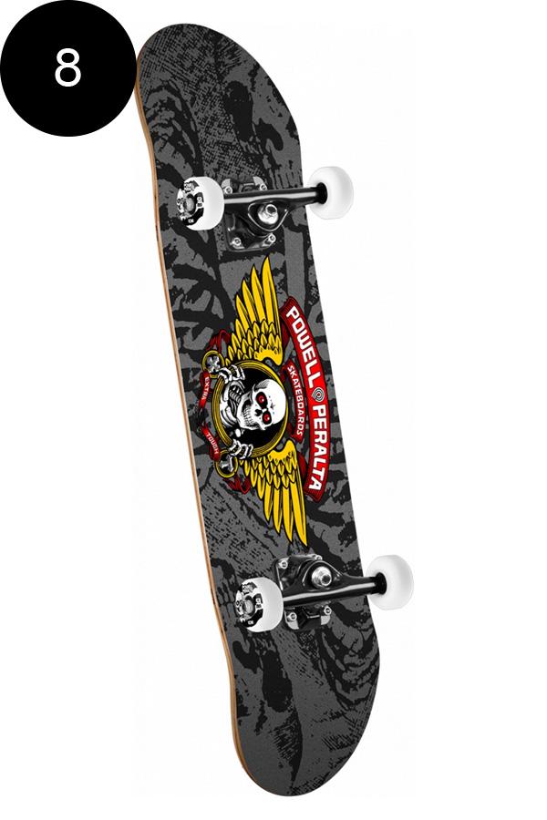 【POWELL PERALTA パウエル・ペラルタ】8.0in x 32.125in WINGED RIPPER COMPLETE BLACK/GREYコンプリートデッキ(完成組立品)スケートボード スケボー skateboard sk8【1809】