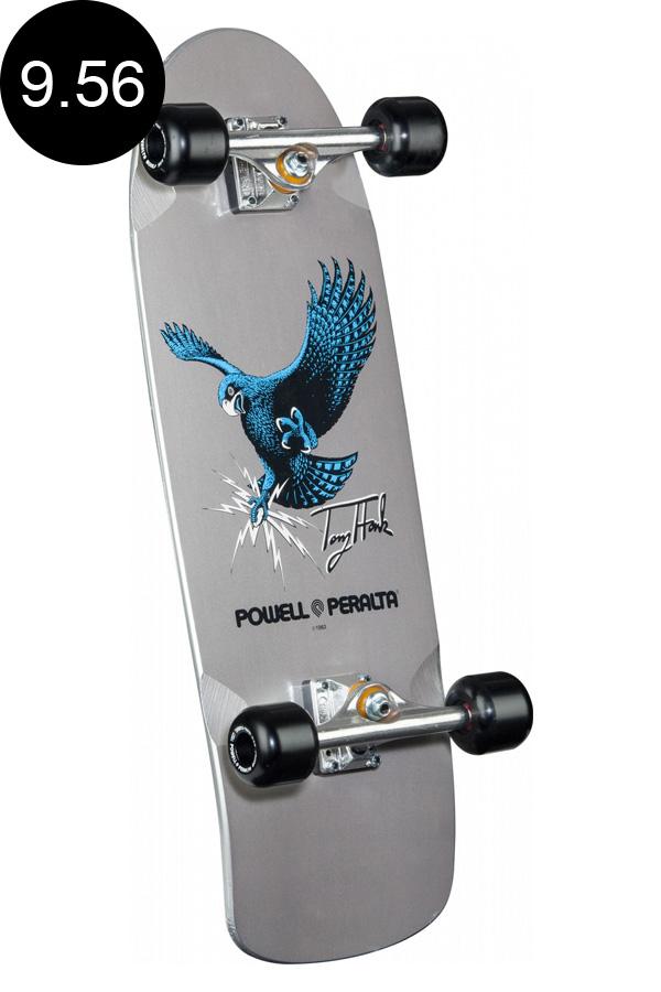 【POWELL PERALTA パウエル・ペラルタ】9.56in x 29.63in BONES BRIGADE® TONY HAWK HAWK COMPLETE SILVERコンプリートデッキ(完成組立品) シルバー ボーンズブリゲード トニー・ホーク スケートボード スケボー skateboard sk8【1806】