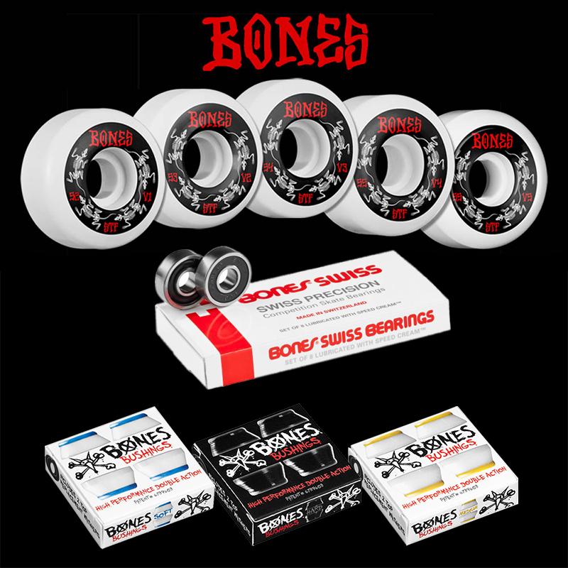 【BONES×BONES×BONES】WHEELS BEARINGS BUSH 3setウィール ベアリング ブッシュ パーツ3点セットハードグッズ スケートボード スケボー sk8 skateboard(セット案内商品)