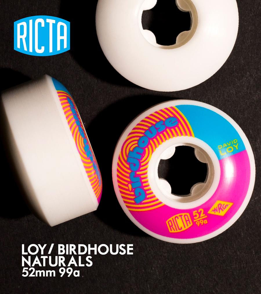 Ricta David Loy Birdhouse Naturals 99a Skateboard Wheels 52mm