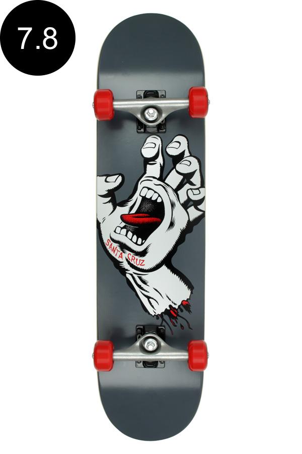【SANTA CRUZ サンタクルーズ】7.8in x 31.7in SCREAMING HAND SK8 COMPLETEコンプリート(完成組立品) スケートボード エントリーモデル(初心者にもおすすめ)スケボー ストリート sk8 skateboard【1810】