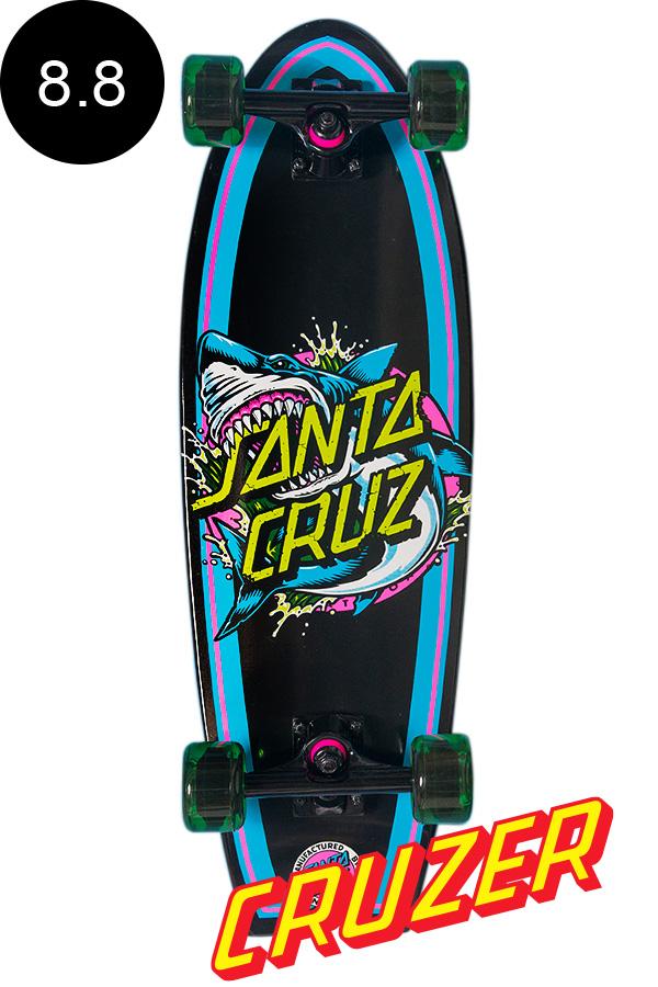 【SANTA CRUZ サンタクルーズ】8.8in x 27.7in SHARK DOT LANDSHARK CRUZERクルーザー コンプリート(完成組立品) スケートボード シャーク ロングボード オフトレ サーフ サーフィン スケボー sk8 skateboard【1805】