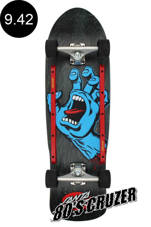 【SANTA CRUZ サンタクルーズ】9.42in x 31.88in SCREAMING HAND 80'S CRUZERクルーザー コンプリート(完成組立品) スクリーミングハンド オールドスクール スケートボード KRUX レール付 ロングボード オフトレ スケボー skateboard【1805】