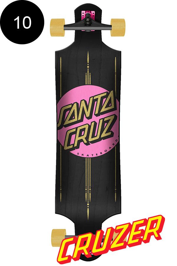 【SANTA CRUZ サンタクルーズ】10in x 40in OTHER DOT PINK DROP DOWN CRUZERクルーザー コンプリート(完成組立品) スケートボード ドロップダウン ダウンヒル ロングボード オフトレ スケボー sk8 skateboard【1807】